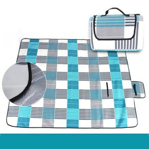 3-Layers Large Picnic Mat Cashmere Waterproof Rug Outdoor Camping Blanket