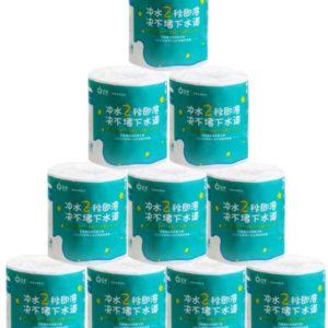 10 rullar vattenlösligt mjukt toalettpapper bulk badrum toalettvävnad Ultra Gentle Care Badrum Köksvävnad med låda