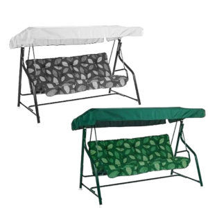 "84""x48""x7.1"" Garden Swing Chair Canopy Spare Patio Cover Waterproof Replacement"