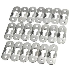 20 Pcs 44mm Metal Key Hole Hanger Fasteners Picture Photo Painting Fasteners