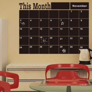 Blackboard Wall Stickers This Month Schedule Timetable DIY Calendar Wall Decal Home Decor