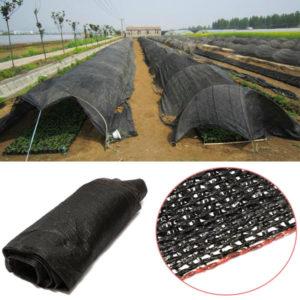 10 20 FT Garden Plant Black Sunshade Net Balkong Gård Uteplats Växthusisolering Skuggning Nätning