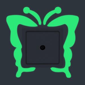 Butterfly Creative Luminous Switch Klistermärke Avtagbar glöd i den mörka väggdekor Heminredning