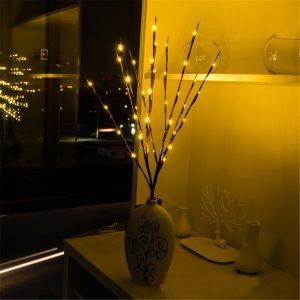 20 LED-trädgrenar Ljus julparty trädgårdsbatterier med lampdekorationer