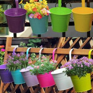 Blikkplatta Pothook Hang Dubbelanvänd blomkruka