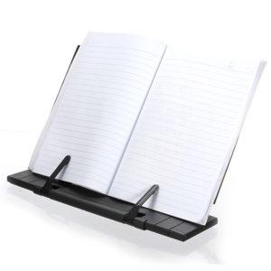 Svart justerbar bärbar läsbokshållare