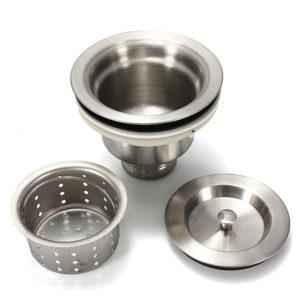 Rostfritt stål Köksvattenfat Sinkplugg Avtappningskorg