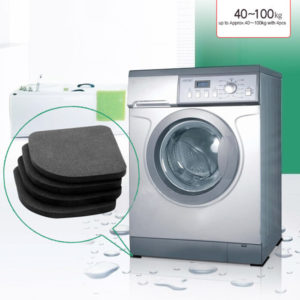 4pcs Washing Machine Anti Shock Pads Silence Cotton Non-slip Mat