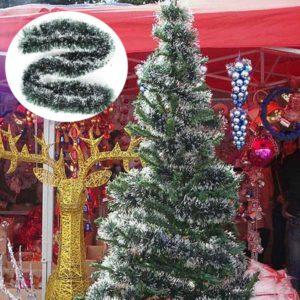 2m Christmas Rattan Pendant Green White Grass Xmas Tree Decoration