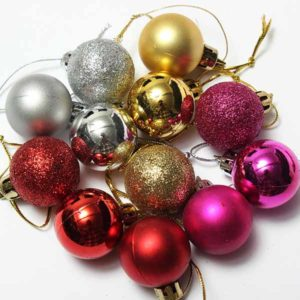 24pcs Xmas Tree Decoration Christmas Glitter Balls Ornament