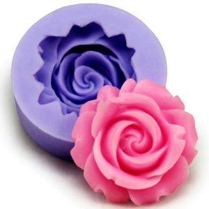 3D-silikon Rose Fondant Mold Bakelse Cake Decorating Mold Bakning Tool Bakeware