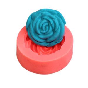 3D Rose Silikon Fondant Tårta Form Choklad Clay Tvål Mögel Bakning Cake Decorating Tool