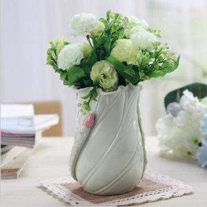 Simple Fresh Lotus Leaf Flower Ceramic Pen Case Home Furnishing Decor