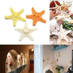 Naturliga konstgjorda sjöstjärna prydnad tillbehör bröllop dekoration