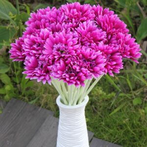 10st solstråle konstgjord blomma mamma Gerber Daisy brudbukett silk bröllop fest blommor