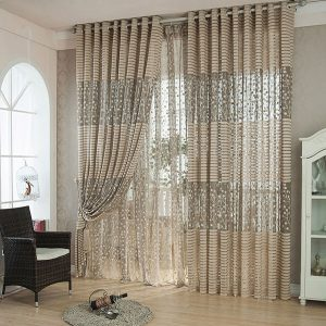 100x200cm Flax Yarn Window Screening Balcony Bedroom Breathable Window Curtain