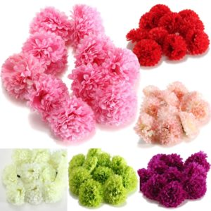 10Pcs Artificial Daisy Mum Flower Silk Spherical Heads Bulk Home Party Wedding Decor