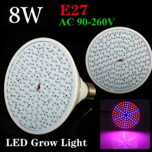 8W E27 Garden Plant Growth LED Bulb Greenhouse Plant Seedling Light