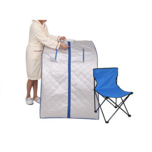 iBeauty Portable Far Infrared Sauna Room with Folding Chair Bathroom Furniture