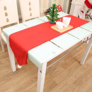 34X176CM Christmas Table Runner Matta bordduk Christmas Flag Home Party Decor Röda Bordslöpare
