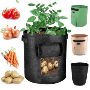 10/7 Gallon Potato Grow Bag Double Door Pot Nonwoven Environmentally Friendly Indoor Outdoor Seedling Bags