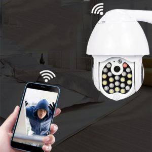 Bakeey 21 LED 1080P 5MP Dome Speed Camera Two-way Audio Full Color Night Vision IP66 Waterproof WiFi Home Security Monitor CCTV