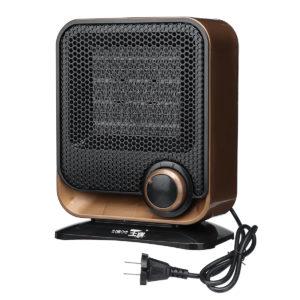 220V 1500W Elektrisk fläktvärmare Lågbrus Justerbar temperaturregulator 3 Färg att välja