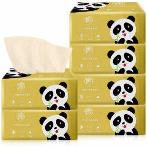6packer oblekt toalettpapperspapper Bambu toalettpapper Hypoallergeniskt kök Toalettpapper Pumpa toalettpapper med låda