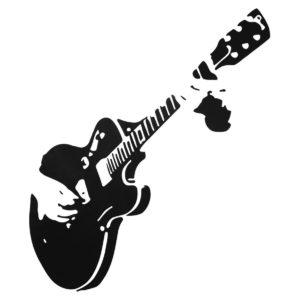 Avtagbar gitarrgitarrist Musik DIY Rock Style Dekal Heminredning Konst Väggdekor Tapet