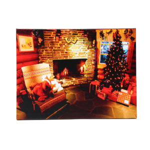 40 x 30cm Operated LED Home Christmas Decor Tree Xmas Canvas Print Wall Art