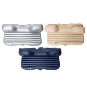 Inflatable Car SUV MPV Back Seat Mattress Air Folding Bed Rest Sleeping Camping +Pillows