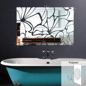 Honana akryl speglade DIY dekorativa väggklistermärken 3D Väggdekor Badrumsspegel Klistermärke Dekoration