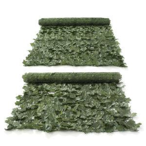 1 * 3m Konstgjord murgröna bladstaket Green Garden Yard Integritetsskärm Hedge Plants Decorations