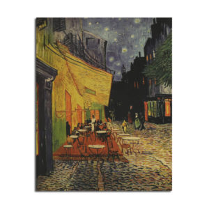 Van Gogh Cafe Poster Kraft Paper Wall Poster DIY Wall Art 18.5 inch X 14 inch
