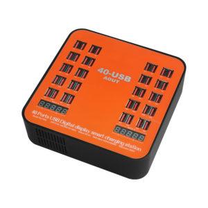 840 multifunktionell laddningsbar LCD-dynamisk display 150W högeffekt multiport 40 portar laddningsstation USB-laddare för 8 stift