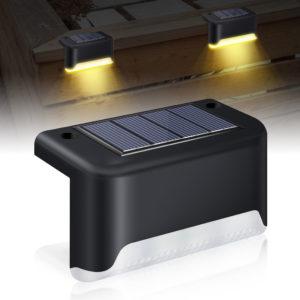 DIGOO DG-SL612 4 st utomhus solstegslampa IP55 vattentät värmetät 3200K färgtemperatur 100lm Solar Garden vägglampa för skrivbordstaket Yard trappsteg