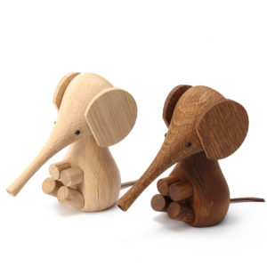 Adjustable Handicraft Elephant Wooden Animal Doll Smooth Surface Home Decorations Gift