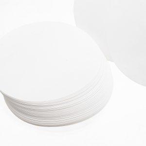 100Pcs/Set 7/9/11/12.5/15/18cm Qualitative Filter Paper Circular Funnel Filter Sheet Fast Speed 20-25um