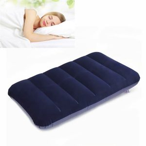 47x 30cm PVC Flocking Portable Inflation Pillow Outdoor Camping Travel Nap Sleeping pillow