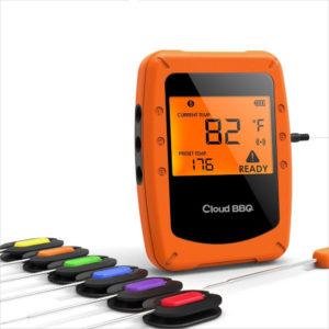 Bakeey Bluetooth Trådlös Intelligent Magnetisk Montering Barbecue Termometer Trådlös Kök Mat Hygrometer med APP-kontroll för Smart Home
