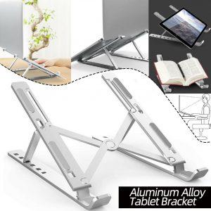 Aluminum Alloy Tablet Bracket Mount Foldable Portable Laptop Stand Holder Rack Pad Holder
