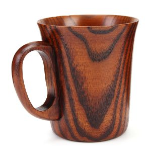 400ml Handcraft Natural Wooden Milk Coffee Tea Cup Barrel Juice Drink