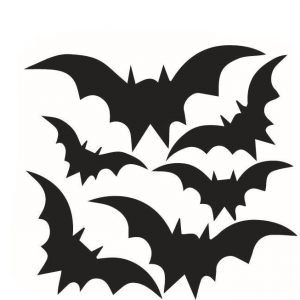 Creative Halloween Dark Bats PVC Waterproof Wall Sticker Removable Vinyl Art Mural Decoration Stickers Environmental Protection Halloween Wall Sticker Window Home Decoration Decal Decor