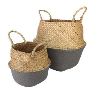 Flower Basket Storage Holder Flower Pot Laundry Organizer Bag Garden Decoration
