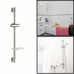 Bathroom Shower Head Lifting Rod Set with Soap Dish And Shower Head Holder