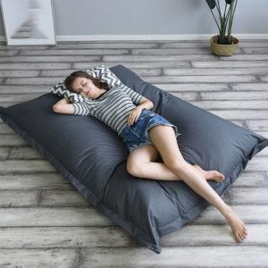 140 * 180 cm XXXL Utomhus vikbar Bean Bag Coat Multicolor Waterproof Oxford Cloth Lazy Sofa