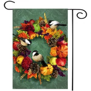 """12""""x18'' Mini Garden Double Sided Flower Butterfly Flag House Yard Banner Decorations"""