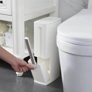 3 i 1 Multifunktion Badrumskorgen Soporavfallsbehållare Köksavfallskorg med toalettborste Avfallspåsehållare Avfall Sopor för hemmakontorrum