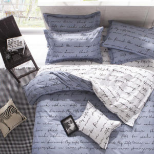3 Or 4pcs Polyester Fiber Letters Reactive Dyeing Bedding Sets Twin Full Queen Size