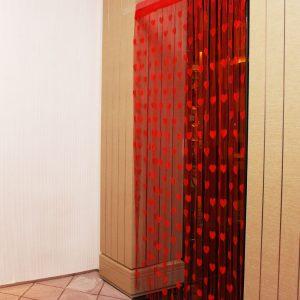 1mx2m Love Heart String Gardiner Tassel Drape För vägg Vestibule Door Window Window Decor